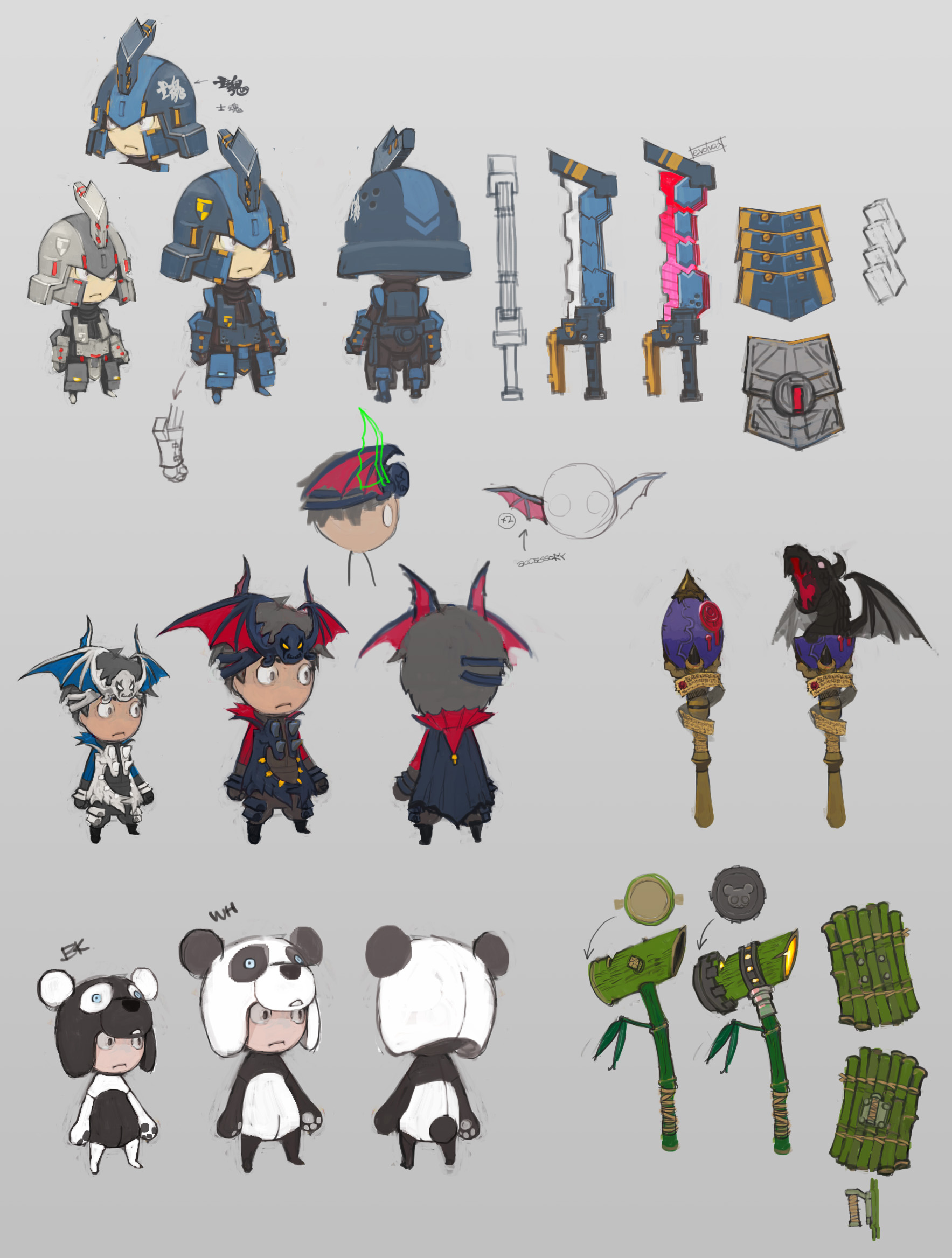 "Game Character Design Contest : ""happy wars item design contest update vol happy"